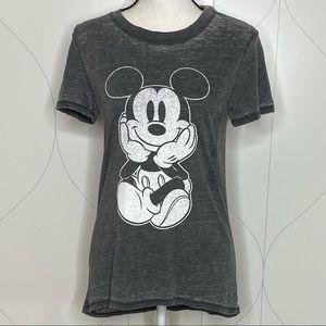 NWT Disney burnout Mickey tee black/grey M